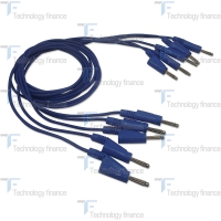 Синий силиконовый соединительный кабель R&S HZ10B
