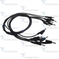 Черный силиконовый соединительный кабель R&S HZ10S